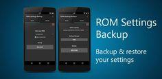 ROM settings Backup Pro v2.01 Build 202