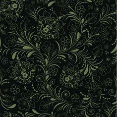 Dark Elegant Green Floral Seamless Pattern - http://www.welovesolo.com/dark-elegant-green-floral-seamless-pattern/