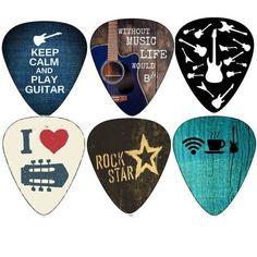 Creanoso Cool Guitar Picks (12pc)- Assorted Light Medium Heavy Gauge - for Acoustic, Electric and Bass Guitars #GuitarPicks