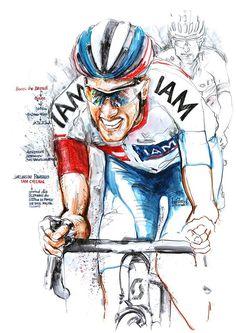 Jarlinson Pantano wins Stage 15 Tour de France 2016 Bicycle Painting, Bicycle Art, Bike Illustration, Cycling Art, Sports Art, Figure Drawing, Bmx, Artwork Prints, Photo Art