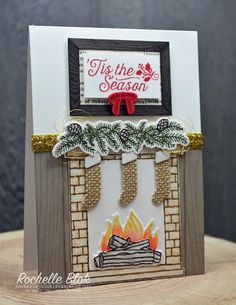 The Stamping Blok: Can You Case It? #86 - A Sketch Challenge - Rochelle Blok #stampinup #festivefireplace