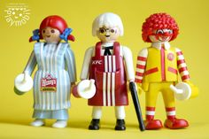 Fast Food Mascot Playmobil Customs Image only - Links to FB Lego Figures, Action Figures, Cool Toys, Awesome Toys, Playmobil Toys, Minions, Heart For Kids, Legoland, Cool Cartoons