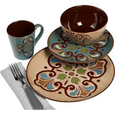 Unique Colorful Dinnerware Sets | Meijer Kitchen & Dining Tabletop Dinnerware