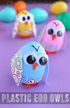 Plastic Easter Egg Owl Craft for Kids - Crafty Morning