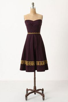 Anthro/Girls of Savoy Aubergine Sky dress - If only it were a little shorter this would be my dream dress!
