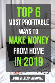 Are you looking for ways to make money online from home? Download my FREE guide on the Top 6 Ways To Make Money From Home In 2019. #makemoneyonline #workfromhome #onlinebusiness #sidehustle