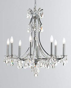 Shop Cedar Polished Chrome Chandelier at Horchow, where you'll find new lower shipping on hundreds of home furnishings and gifts. Dining Chandelier, Large Chandeliers, 5 Light Chandelier, Chandelier Shades, Glass Chandelier, Ceiling Canopy, Crystal Drop, Chrome Finish, Polished Nickel