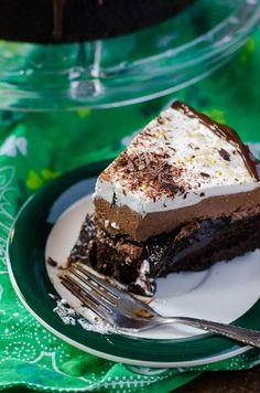 Irish Cream Coffee Mud Pie - The Crumby Cupcake