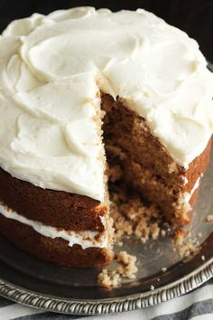 Apple Spice Cake with Maple Cream Cheese Icing | Dash of Texas
