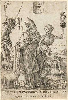 Heinrich Aldegrever: Death and the Bishop 1541