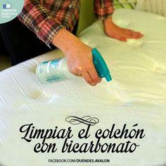 Limpiar el colchón con bicarbonato