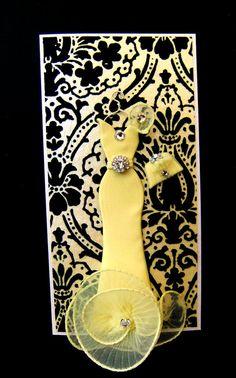 Jade Personalized Dress Card / Handmade Greeting Card by BSylvar