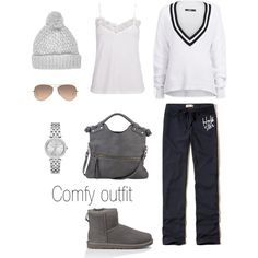 comfy outfit by hanna-tisater on Polyvore