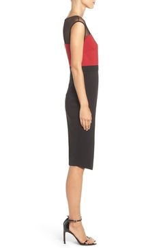 Main Image - ECI Illusion Colorblock Midi Dress