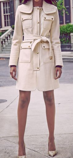 Belted wool coat. Latest fashion ideas.