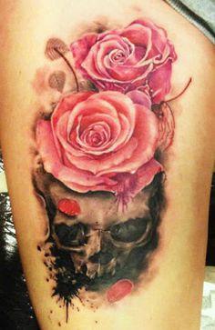 Skull Tattoo by Augis Tattoo