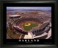Oakland Athletics Framed Poster Print Oakland Alameda Coliseum Aerial Lg Oakland Coliseum Oakland Athletics Oakland