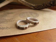 Rings carved from deer antlers