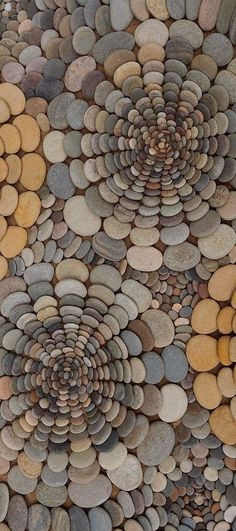 of the Best Creative DIY Ideas For Pebble Art Crafts Land Art by Dietmar Voorwold Pebble Mosaic, Stone Mosaic, Pebble Art, Mosaic Art, Rock Mosaic, Easy Mosaic, Mosaic Rocks, Pebble Stone, Mosaic Ideas