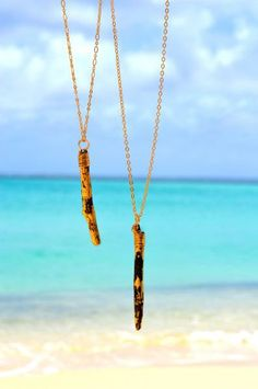 Gold Leafed Driftwood Necklace by @TheSpireLife on Etsy, $120.00