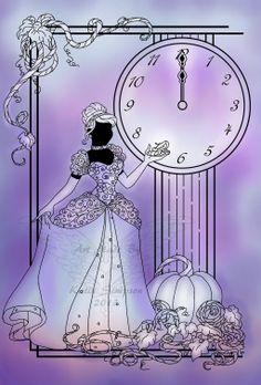 Silhouette Cinderella by *Redhead-K on deviantART