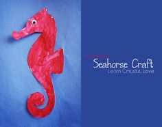 Printable Seahorse Craft from http://learncreatelove.com