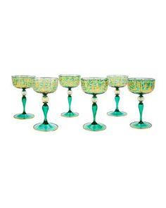 Devonia Set of 12 Venetian Glass Champagne Glasses