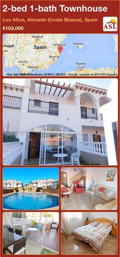 Townhouse for Sale in Los Altos, Alicante (Costa Blanca), Spain with 2 bedrooms, 1 bathroom - A Spanish Life Murcia, Alicante, Valencia, Family Bathroom, Double Bedroom, Townhouse, Terrace, Spanish, Outdoor Decor