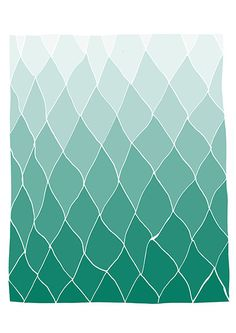 Geometric print 11x14  Teal  Hands drawing base  by villavera, $29.00