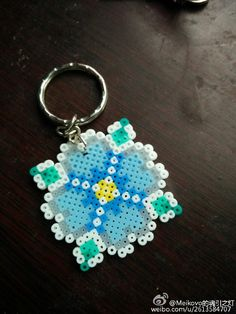 Flower keychain perler beads