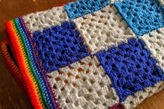 """Another blanket? What is happening to me?! The Disco Rainbow Blanket  """"Oh, so you crochet?"""" """"My nan used to crochet blankets, do you?"""" Until very recently I would have categorically said no, definitely not. I find them boring, they take waaay way longer than you think, the initial enthusiasm wanes quite quickly and any attempt has previously ended up in a basket in the corner gathering dust......"""