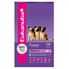 Eukanuba Puppy Small Breed, é um alimento indicado para cachorros de raça pequena, fornecendo uma excelente nutrição para o desenvolvimento do seu cachorro. Tem um nível elevado de proteínas e gorduras, e está especialmente desenhado para o rápido metabolismo dos cachorros de raças pequenas.