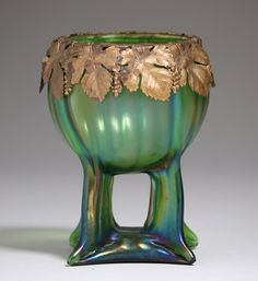 Buy online, view images and see past prices for Loetz Art Glass Brass Overlay Buttress Vase. Invaluable is the world's largest marketplace for art, antiques, and collectibles. Vintage Bohemian, Pottery Vase, Fine Furniture, Ceramic Vase, Art Decor, Decoration, Grape Vines, Art Boards, Overlays