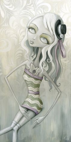 Megz Majewski Artwork - very cool (this reminds me of Tim Burton's characters)