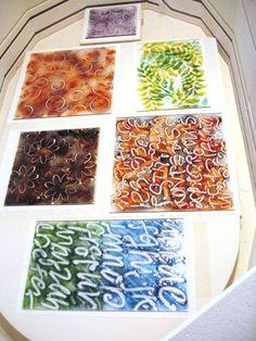 Valerie Adams Glass | Scribbling in powder