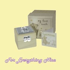 My First Tooth Silver Plated Baby Christening Childrens Boxed Gift Set