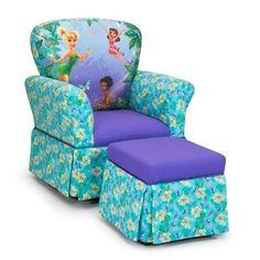 Kidz World Furniture Disneys Fairies Skirted Rocker And Skirted Ottoman Set    KWF 1920