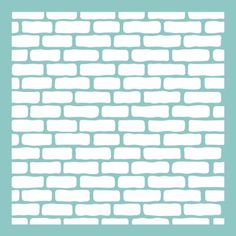 """12"""" x 12"""" brick wall pattern template / stencil for use on scrapbook and paper…"""