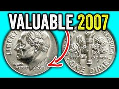 These are 2007 error dimes worth money and expensive coins to look for in pocket change. We look at the 2007 Roosevelt dime value and how much these coins se. Old Coins Worth Money, Old Money, Coin Dealers, Valuable Coins, Coin Shop, Coin Worth, Error Coins, Coin Values, Tarot Spreads