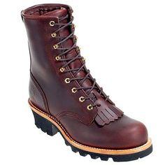 Chippewa Boots Men's Steel Toe Vibram Sole 73031 EH Logger Work Boots