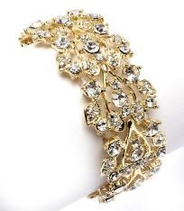 NEW stunning clear crystal bracelet - free US ship