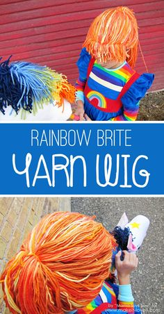 DIY Rainbow Brite YARN WIG (...or any costume character) | Make It and Love It