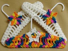 Crocheted Hangers Childs Fancy  Baby Shower by AuntieLolasAttic, $15.99