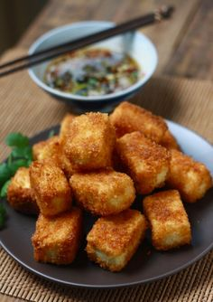 Healthy and Flavorful Tofu Recipes | Fried Tofu with Sesame-Soy Dipping Sauce
