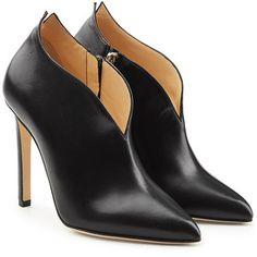 Chloe Gosselin Locust Leather Ankle Boots