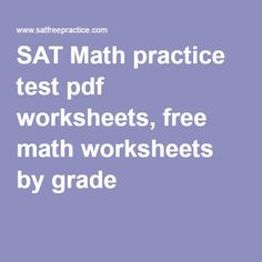 math worksheet : 1000 ideas about act practice test pdf on pinterest : Sat Math Worksheet