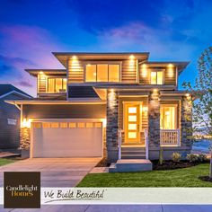This contemporary roofline takes sharp and sophisticated to a whole new level! #CandlelightHomes #utahhomes #utahbuilder #webuildbeautiful #homedecor #exterior #contemporary #home #utah