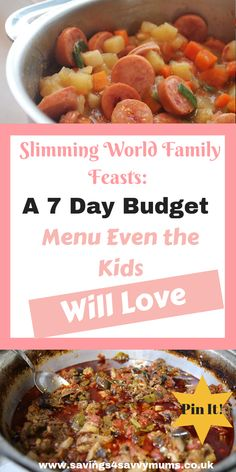 Slimming World Meal Plan: 7 Days of Cheap Slimming World Meals - Savings 4 Savvy Mums - Diet Plan Slimming World Quick Meals, Slimming World Menu, Slimming World Recipes Syn Free, Slimming World Smoothies, Slimming World Shopping List, Slimming World Fakeaway, Healthy Recipes On A Budget, Cooking On A Budget, Budget Meals