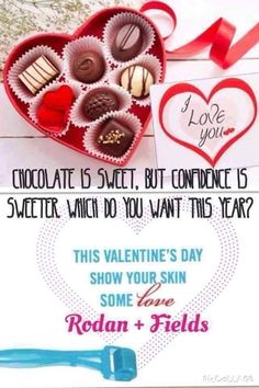 Ask yourself this....What if instead of a chocolates and roses for Valentine's Day, you got yourself or loved one the ability to own a business?! Wouldn't you rather your gift be an investment into your future together? How amazing to have your gift turn into residual income (rather than wilted or eaten)! Don't forget the best skin you've ever had! Rodan + Fields has been so much fun and inspiring thanks to my amazingly supportive team! Interested? Message me! :) Lets chat…
