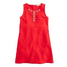 Crewcuts red jeweled shift dress